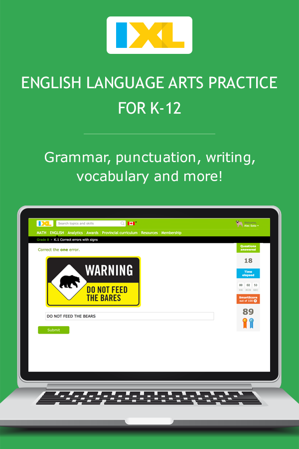 IXL | Math and English Language Arts Practice