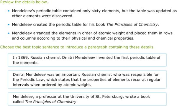 chemist sentence